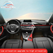 For 3 4 Series 3GT F30 F34 13-18 Inside Door Handle Inside Door Mouldings Stripe Center Multi-media Buttons Panel Cover Trim