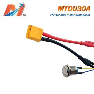 Image 4 - Maytech מכירת חיסול (קידום) כפולה מנוע חשמלי סקייטבורד ESC 30A 10S סקייטבורד מהירות בקר