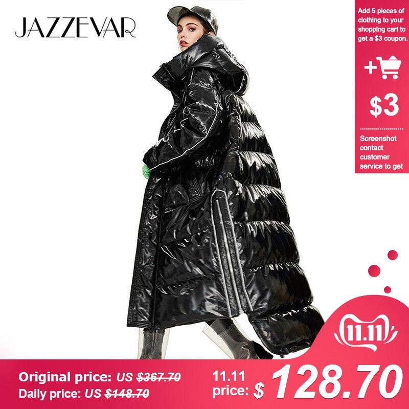 JAZZEVAR 2019 Winter New Arrival Women Down Jacket Outerwear Quality Loose Clothing Fashion Style Long Winter Coat Women Y9047
