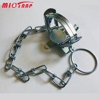 Trampa de resorte de bobina de Metal para exteriores, para Fox, Bobcat, Vole, Skunk, Muskrat, conejo, Control de plagas, herramienta de jardín