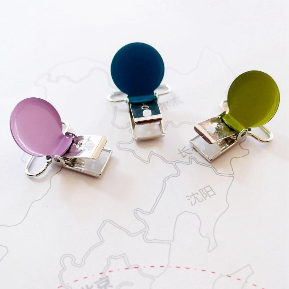 chupeta vestuario esmalte forma redonda suspender clipes 02