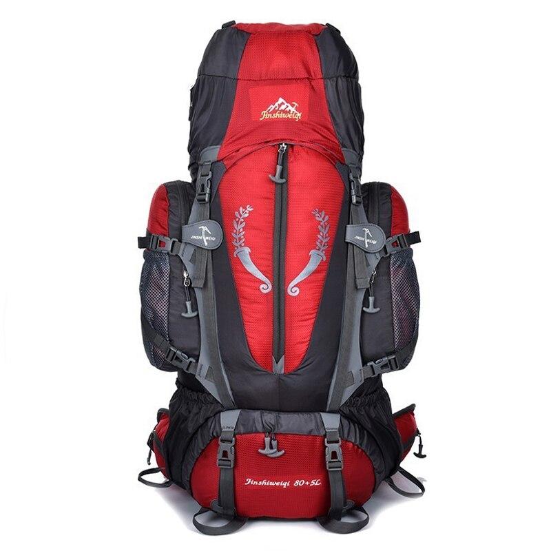 Heißer Große 85L Outdoor Rucksack Unisex Reise Multi-zweck klettern rucksäcke Wandern große kapazität Rucksäcke camping tasche