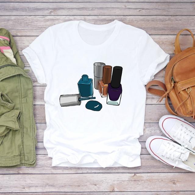 Фото топ футболка женские милые туфли лодочки графический женский