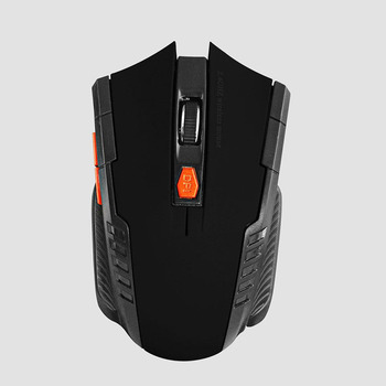 2020 Best Sellers Game mouse 2.4GHz Wireless Mice With USB Receiver Gamer 1600DPI Mouse For Computer PC Laptop Super Slim Mouse - Black, China