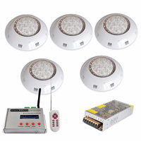Underwater LED Pool Lamp Wall Mount Pools Light Piscina for Fountain Spa 36W DMX512 Remote Controller 12V Power Supply Adapter