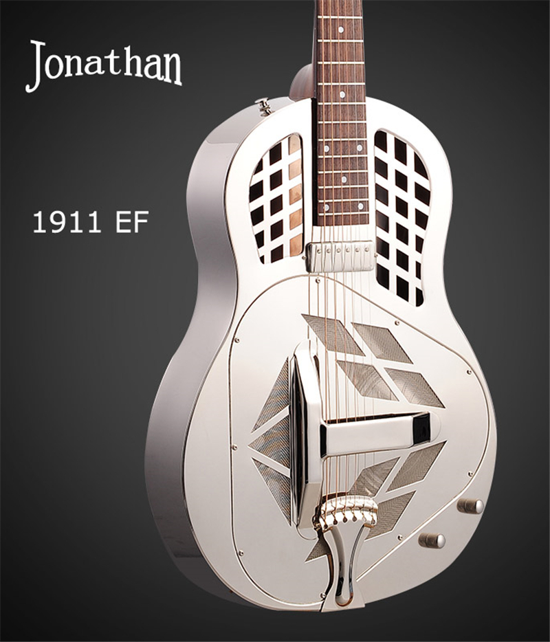 Jonathan 19 series resonator guitar, resophonic guitars, Metal Body Duolian guiatrs