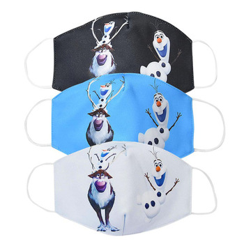 2020 Washable Snowman Mouth Face Mask Men Women Kids Adult Cartoon Cotton Anti Dust Protection K-POP Reusable Masks ZXT232