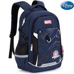 Disney marvel torby szkolne dla chłopca iron man kapitan ameryka duża pojemność wodoodporny lekki plecak szkolny nastoletnie dzieci mochila