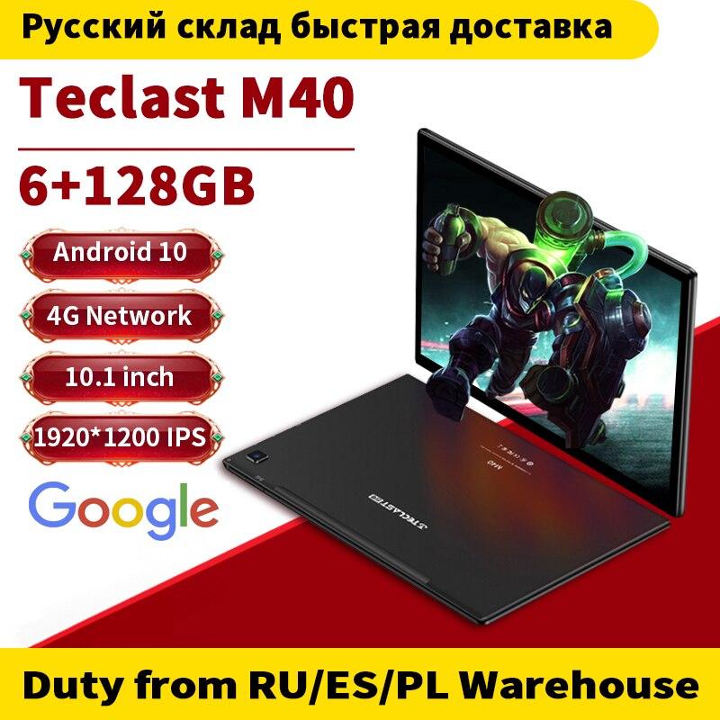 Teclast M40 10,1-дюймовый Восьмиядерный двойной 4G сеть Android 10,0 телефонные звонки планшеты 1920x1200 6 Гб RAM 128 ГБ ROM T618 GPS Планшетный ПК