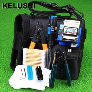 Image 1 - KELUSHI 13 PCS Practical FTTH Fiber Optic Tool Kit with FC 6S Fiber Cleaver and 5Mw Visual Fault Locator Fiber Optic Stripper