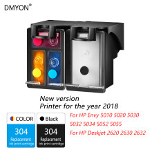 Dmyon 304XL Ink Cartridge 2018 Versi Baru Printer Kompatibel untuk HP 304 untuk Iri 5010 5020 5030 5032 5034 5052 5055 Printer(China)