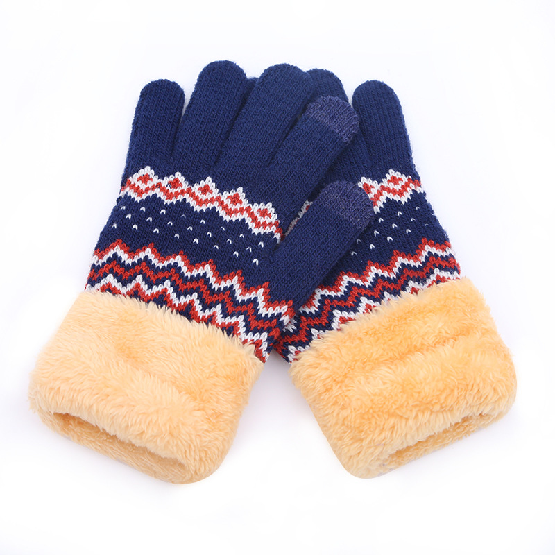 New Winter Touch Screen Gloves Women Warm Stretch Knitted Ladies Thicken Mittens Full Finger Guantes Autumn Female Driving Glove