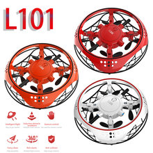 L101 Mini Drone anti-çarpışma UFO RC dört pervaneli helikopter Drone el kontrollü uçan helikopter LED indüksiyon uçan uçak RC oyuncaklar