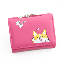 Small Cartoon Cute Corgi Doge PU Leather Wallet SF