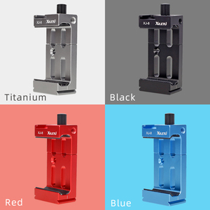 Image 5 - XILETU XJ 8 Tripod Head Bracket Mobile Phone Holder Clip For Phone Flashlight Microphone With Spirit level and Cold Shoe Mount