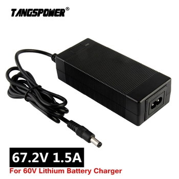 67.2V 1.5A Li-ion Battery Charger For 16S 60V Lithium Battery Charger electric bike Charger Plug EU/US/UK/AU 14 4v 18v battery charger for bosch 1 6a lithium battery adapter dual usb charger uk eu us plug power tool replacement us plug