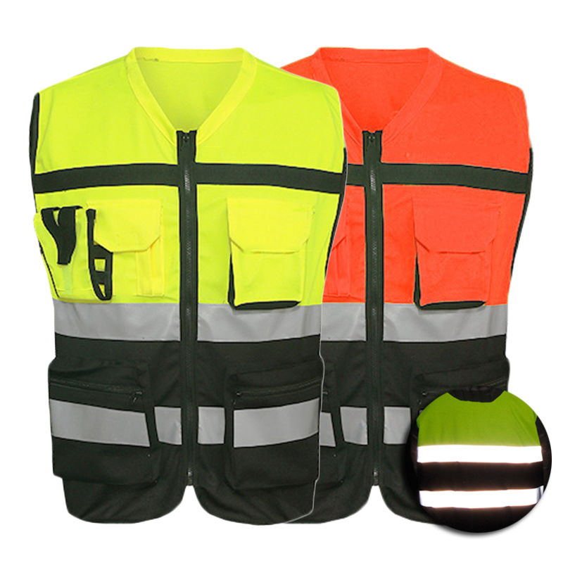 Reflective Vest Yellow Coat Fluorescent Road Working Clothes Motorcycle Cycling Sports Cycling Outdoor Reflective Safety Clothin