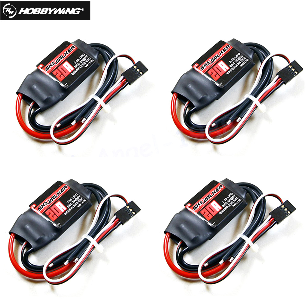 4pcs/lot Hobbywing Skywalker 12A 15A 20A 30A 40A 50A 60A 80A ESC Speed Controler For RC Airplanes  Helicopter Quadcopter