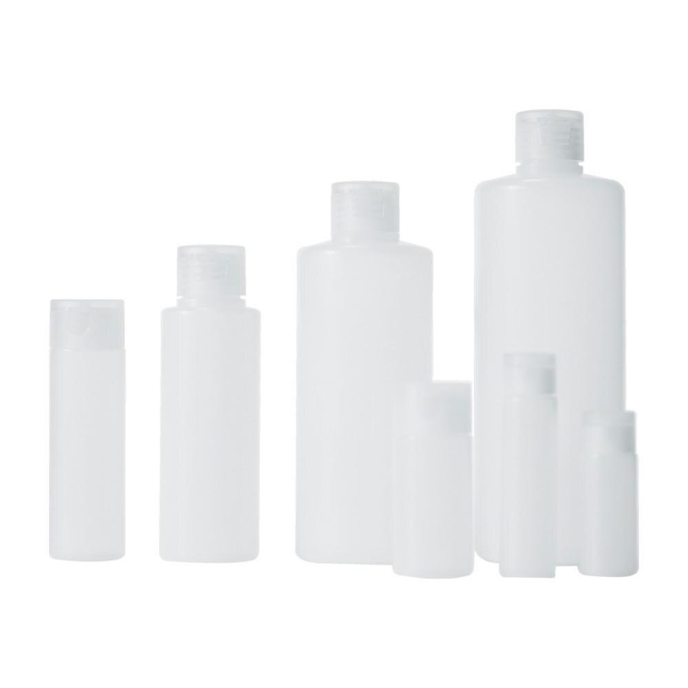 Hot 1Pcs Transparent Leere Nachfüllbare Flaschen 12/18/30/50/100/200/400 ML Reise Transparente Kunststoff Flasche Kleine Nicht-spray B
