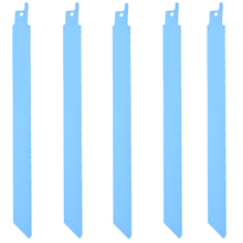 New 5pcs Quality Metal Recip Saw Blades Sharp Saw Blades 225mm Flexible Jig Saw Tools Set 18tpi for Wood Cutting Saw Supplies