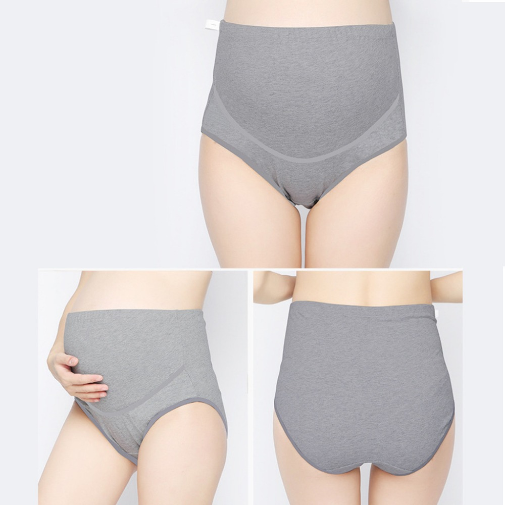 Women-s-High-waist-Panties-Solid-Stripe-Seamless-Soft-Care-Abdomen-Underwear-intimates-pregnant-panties-maternity