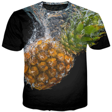 Men 3D T Shirts 2019 Washed Pineapple Shirt Vegetables Printing Casual Short Sleeve Tees Tops Male Customize