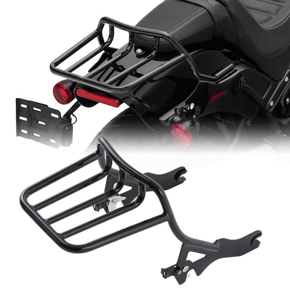 motorcycle two up luggage rack for harley deluxe flde softail slim street bob 2018 2020 2019