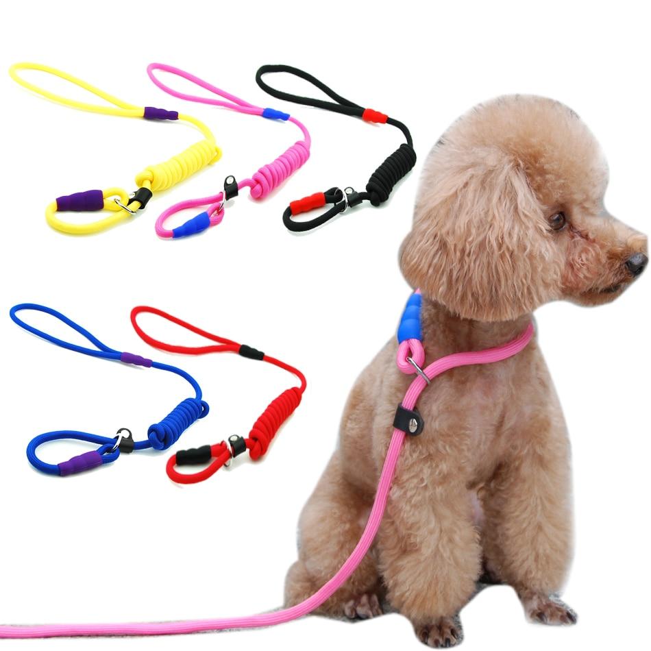 Pet cat dog nylon rope training belt Anti-skid chain adjustable traction belt
