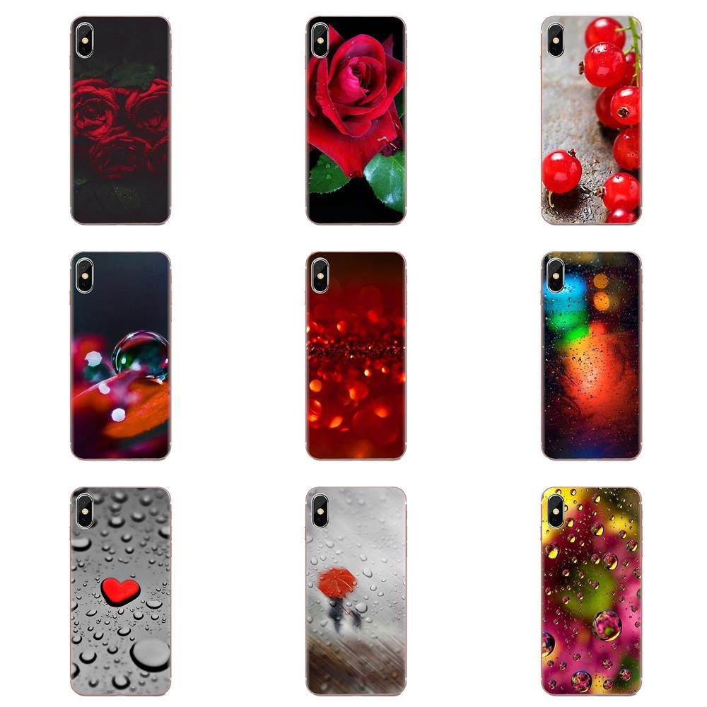 Tpu Soft Phone Cover Case Red Drops Wallpaper For Samsung Galaxy Note 5 8 9 S3 S4 S5 S6 S7 S8 S9 S10 5g Mini Edge Plus Lite Phone Case Covers Aliexpress