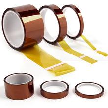 1Pc 5/10/20/30/50Mm Hoge Temperatuur Warmte Tape Thermische Isolatie Tape 100 resistente Hoge Temperatuur Polyimide Kapton Tape