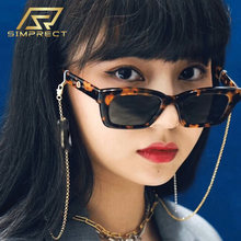 Simprect маленький квадратные солнцезащитные очки 2020 зеркало