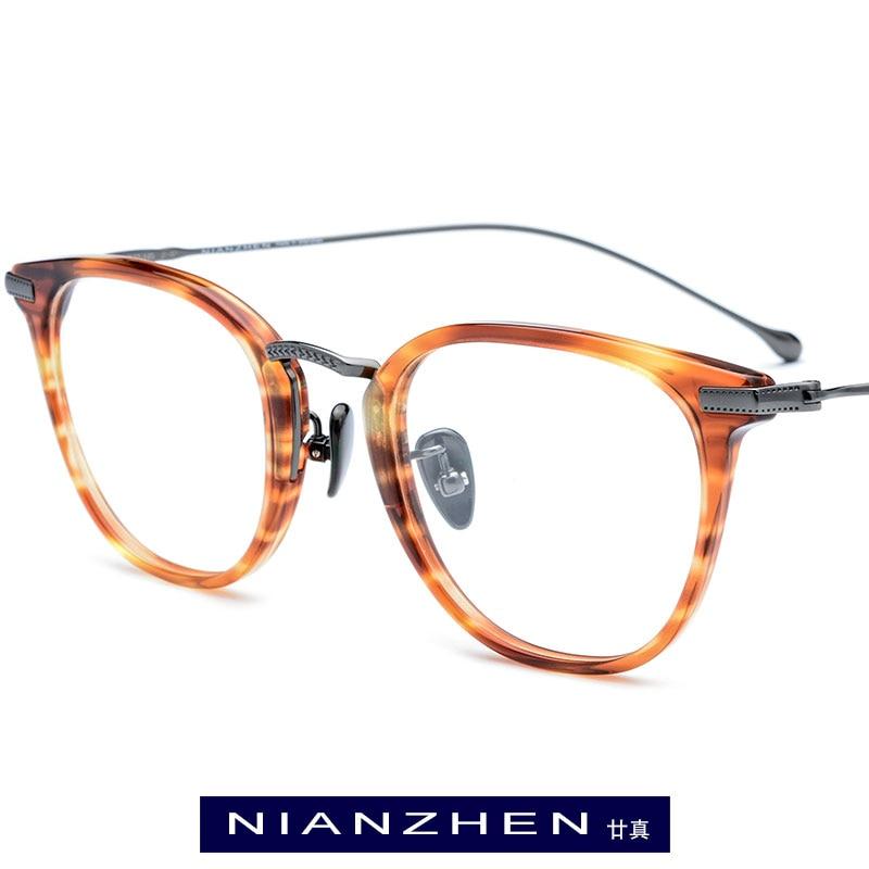 Titanium Acetate Glasses Frame Men Myopia Optical Prescription Eye Glasses For Women Square Eyeglasses Spectacles Eyewear 839