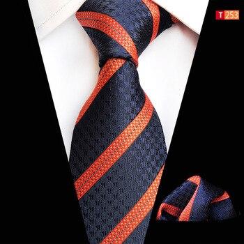 Striped Floral Print Necktie Set Tie Pocket Square Shirt Suit Necktie Accessories Ties For Men Corbata Cravate Pour Homme Bow