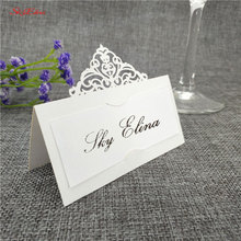 10pcs Wedding Name Cards Laser Cut Place Escort Card Pearlscent Paper Cards Guest Name Place Card Wedding Table Decoration 8z