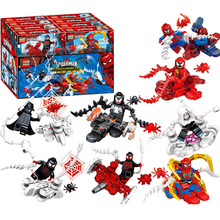 8pcs/lot Marvel Avengers Spiderman Ultimate Spider-man Noir Gwenom Building Blocks Bricks Toys For Children marvel universe ultimate spider man