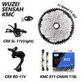 SENSAH CRX 1X11S M7000 велосипедные переключатели 11-40/42/46/50T Кассетный Маховик KMC X11 цепи Prowheel кривошипно mtb велосипеда указано
