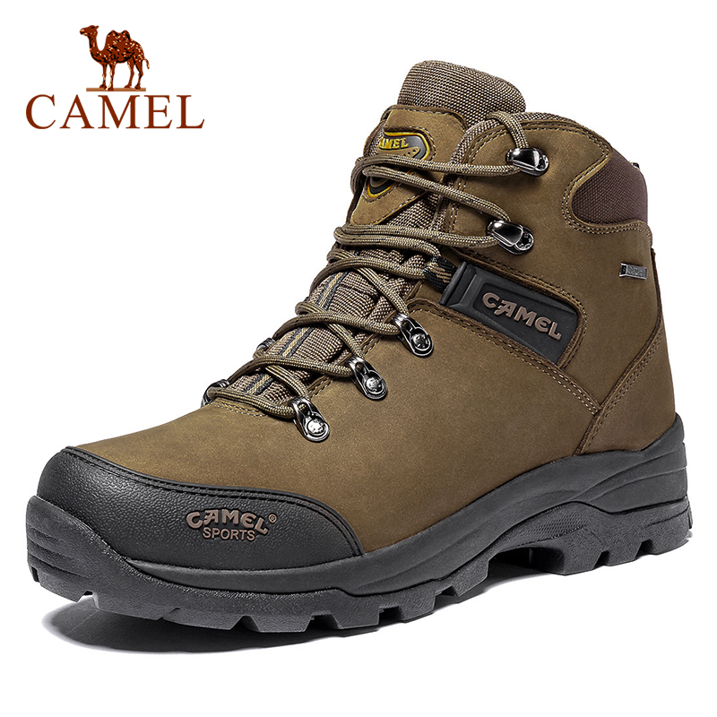 CAMEL Outdoor Sports High-Top Genuine Leather Hiking Men Shoes  Waterproof Antiskid Breathable Mountain Climbing Trekking Boots