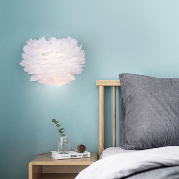 12W Romantic Feather Wall light for living Bedroom Living Room Corridor Art Decorative light E27 LED Wall lamp AC85-265V