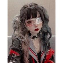 Предпродажной Uwowo длинными вьющимися коричневый градиент Лолита косплей парики жаропрочных синтетические волосы аниме парики партии аниме косплей