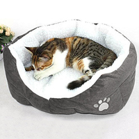 thicken-small-queen-lamb-teddy-bear-removable-round-soft-plush-cushion-pet-warm-rest-sleeping-bed-mat-supplies-dog-cat-warm