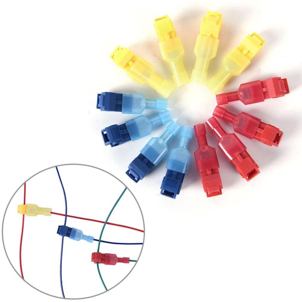 30 Uds./50 Uds. Conectores de Cable de bloqueo de Color aleatorio empalme rápido scotchlock juntas de Cable eléctrico