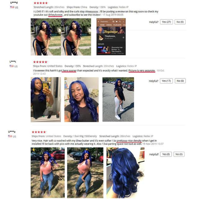 SHD Dark Blue Lace Front Wigs with Pre Plucked Hairline Brazilian Remy Hair Body Wave Lace Front Human Hair Wig with Baby Hair 4