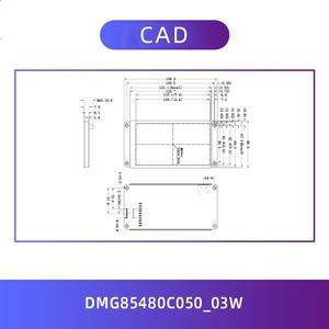 """Image 3 - Dwin T5L HMI عرض ذكي ، DMG85480C050_03W 5 """"IPS 854X480 LCD وحدة شاشة مقاوم/بالسعة لوحة اللمس"""