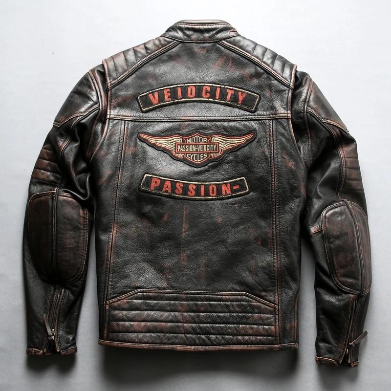Men Brown Suede Leather Jacket Slim Fit Biker Motorcycle Fashion Sylish Jacket