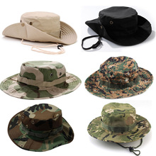 Military Army Tactical Bonnie Hat Hunting Camouflage Round-Brimmed Outdoor Hiking Fishing Camping Bucket Cap