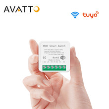 AVATTO Tuya Mini 16A WiFi Switch Module with Smart Life App 2 Way Control, Smart Home Interruptor Work for Alexa, google home