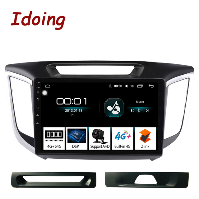 "Idoing 10.2""Car Android Radio Multimedia Player For Hyundai Creta IX25 ix25 2014 4G+64G Octa Core GPS Navigation no 2din dvd"
