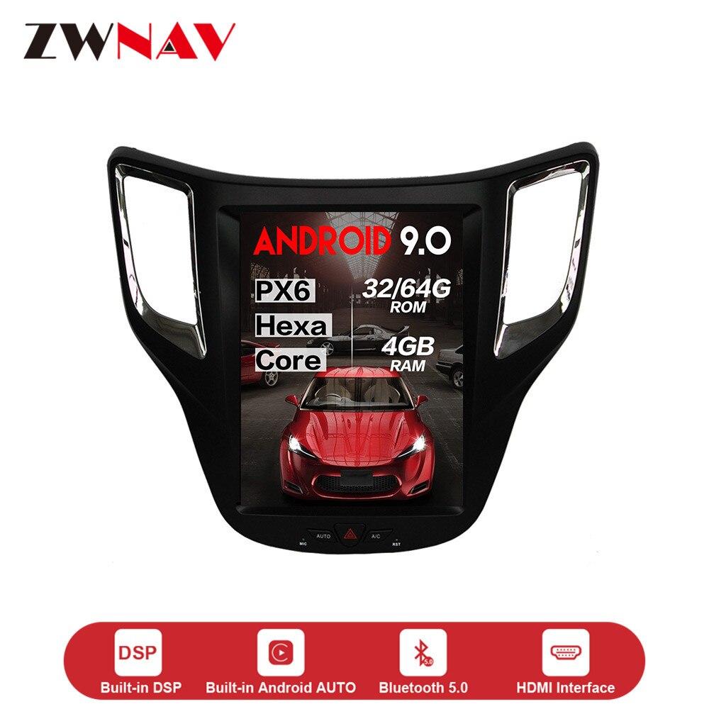 Lecteur multimédia Vertical de voiture de style Tesla Android 9.0 pour voiture Changan CS35 GPS NAVI audio stéréo radio enregistreur de bande unité de tête