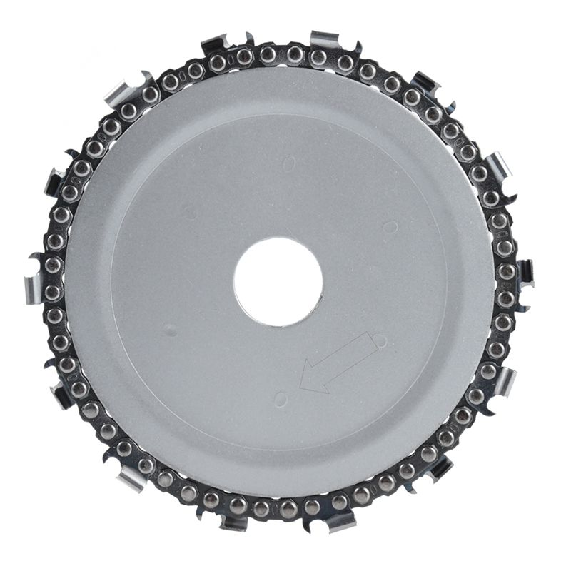 5 Inch Chain Grinder Chain Saws Disc Woodworking Chain Plate Tool 5 Inch Multi-Functional Wood Carving Disc Angle Grinding Tool