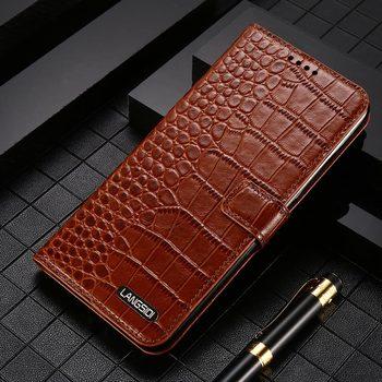 Genuine Leather Flip case for Samsung galaxy S20 Ultra Note 20 10 9 A50 A70 A71 A51 2020 S20 FE S8 S9 S10 Plus A31 M31 Card Slot